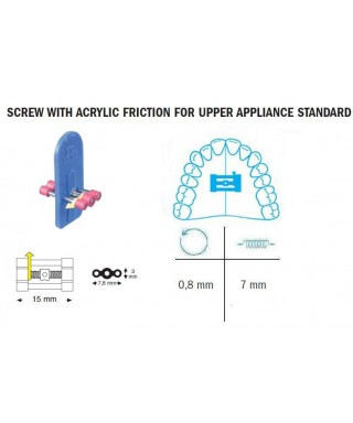 Screw with acrylic friction for upper appliance 7/15 mm