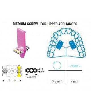 Medium standard screw, upper