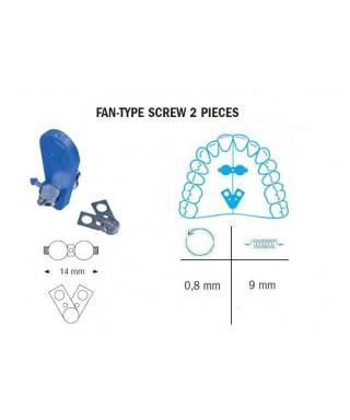 Fan type screw, two pieces  9/14 mm