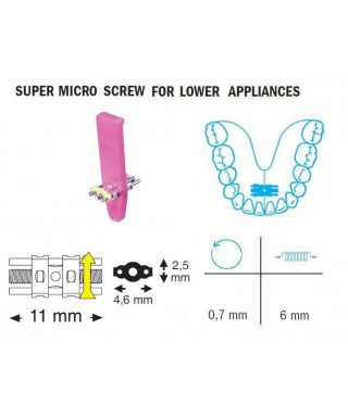 Super micro mandibular screw 6/11 mm