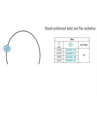 Round preformed flex (6 wired) stainless archwire