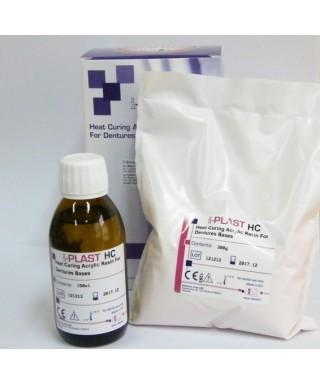 Пластмаса i-PLAST HC - топлополимеризираща розова с власинки - кит пр/теч (300гр +150мл)