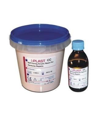 Пластмаса I-PLAST CC - самополимеризираща с власинки - кит пр/теч (300гр + 150мл)