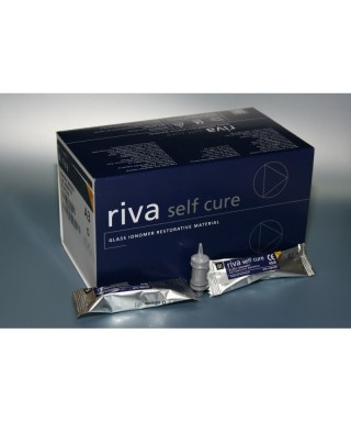 Glas ionomer restoration cement RIVA SC (Fast) , build up - capsule 0,13 ml(min)