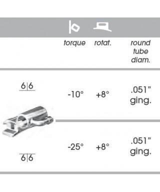 "Канюла, метална с 2 отвора и кука(слот 22/051"") - 6-ти зъби"