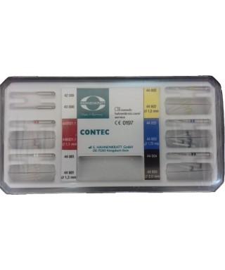 """Сет фиброгласни щифтове """"Contec blanco"""" - 5 р-ра фиброщифтове + 2 калибратора"""