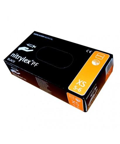 Ръкавици нитрилни без талк, черни (NITRYLEX  BLACK) - кут(100 бр.)