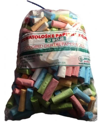 Лигнинови ролки 100% целулоза, цветни (250 г в пакет)