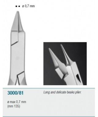 Клеща с дълги и тънки браншове - 135 мм
