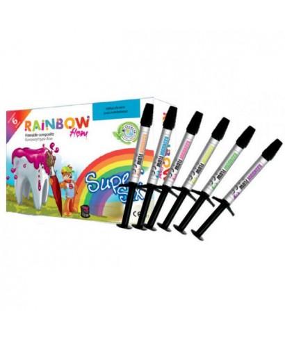 Фотокомпозит течен Rainbow flow Super six - сет 6 шприци