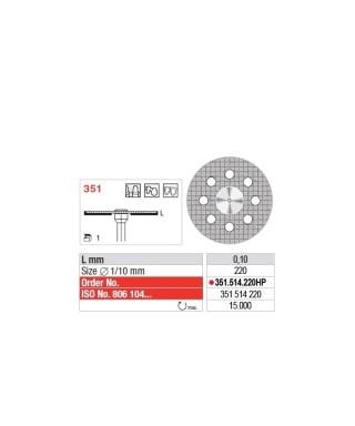 Монтиран диамантен сепаратор, фин / червен (ø22 x 0,1)мм