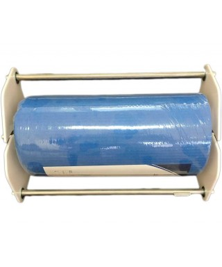 Dispenser for tissue bibs on roll (metal and plastic)