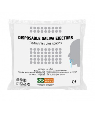 Saliva ejectors Soft 15 cm - pack 100 pc.
