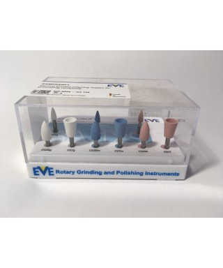 "Set silicone polishers for composites ""Composoft"" - 9 pcs."
