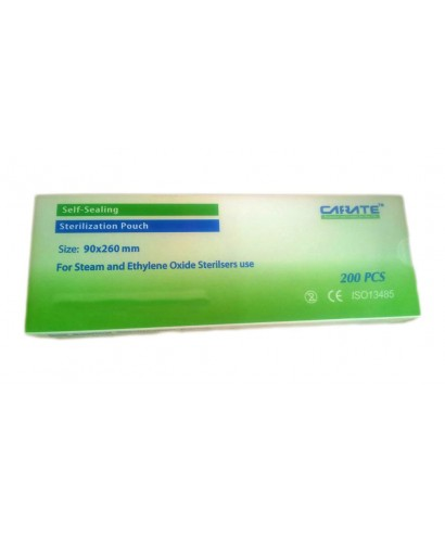 Пликове за стерилизация в автоклав, (90 х 260) мм - 200 бр/оп. (Carate)