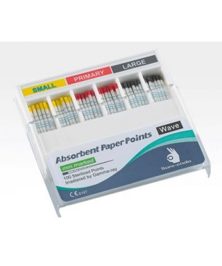 """Absorbent paper points """"Wave One"""" assorted (S,P,L), delineated - box (100 pc)"""