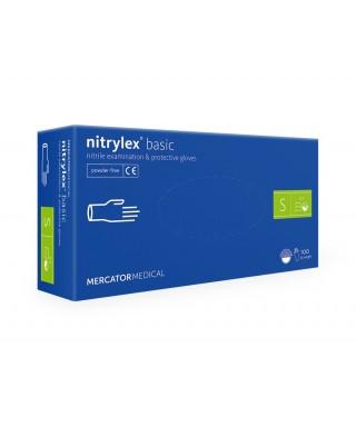 Ръкавици нитрилни без талк Nitrylex Basic - кут(100 бр.)