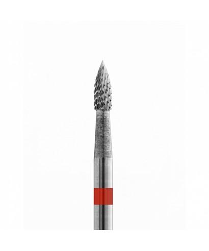 Твърдосплавна фреза, малък пламък (фи 2,3 х 6,5)мм, кръстосан нарез фин