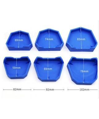 Гумени калъпи за модели, 3 размера - сет 6 бр.