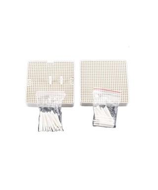 Лабораторна керамична плочка с щифтове (10 бр. керамични)