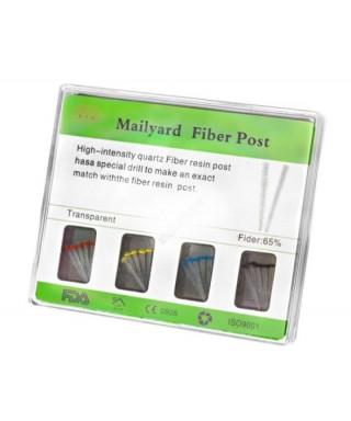"""Сет фиброгласни щифтове """"Mailyard Fiber Post"""" - асорти 20 бр."""