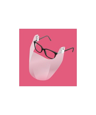 Clip on glasses face Smart Shield - pack 2 pcs.