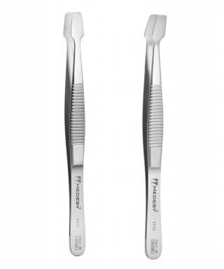 Tweezer for placing membranes, tips (5 х 12)mm - 120 mm