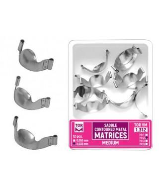 Метални матрици със странични улеи и коремче, секторни - 12 бр/оп.