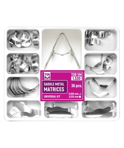 Метални матрици, секторни за премолари с улеи - к-т асорти (36 бр. - 0,05мм)