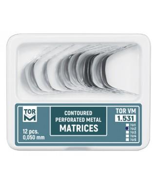 Метални матрици перфорирани, Айвори с контур 0,05мм - 12бр/оп