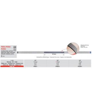 Перфорирана финирна диамантена лента с трионче, 3,75 мм ширина