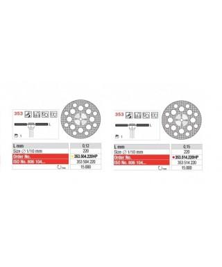 Монтиран диамантен сепаратор, Суперфлекс перфориран (фи 22 x 0,12)мм