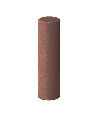 "Silicone polisher for alloys ""EVEFLEX"" - medium coarse brown cylinder (6 x 22)mm"
