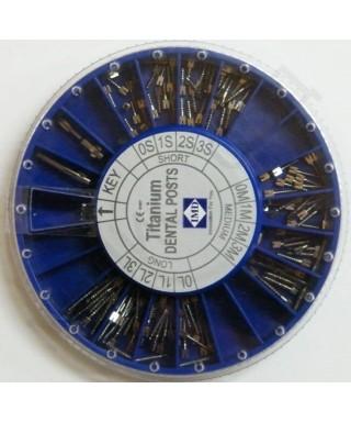 Коренови щифтове - титанови * (Асорти + 2 ключа) - 120 бр/оп.
