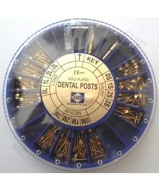 Коренови щифтове - позлатени * (Асорти + 2ключа) - 120 бр./оп.