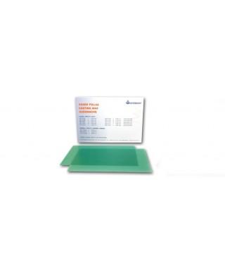 Восъчна плака гладка, зелена * (125 x 75)мм